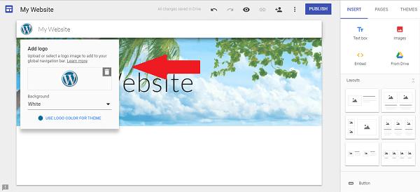 google-site-upload-logo