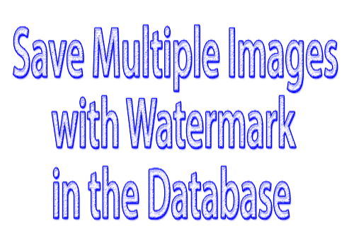 How to save multiple images with watermark into a database with php (Laravel)?