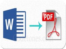 MS Word to PDF