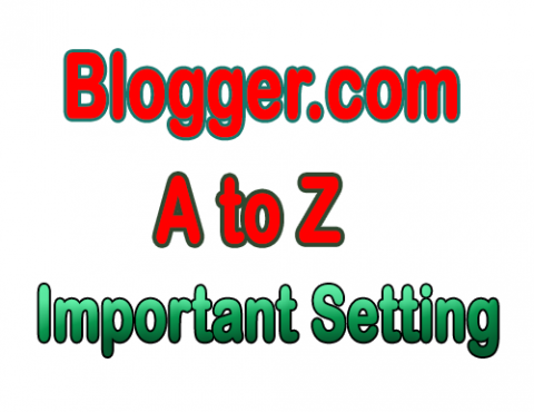 Blogger Important Setting