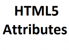 New Form Attributes Of HTML5