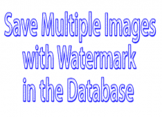 How to save multiple images with watermark